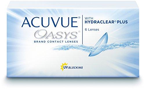 ACUVUE OASYS Kontaktlinsen - 2-Wochen-Linsen für Tag und Nacht mit -3.00 dpt und BC 8.4 - UV Schutz, Austrocknungsschutz & extrem hoher Tragekomfort - 6 Linsen