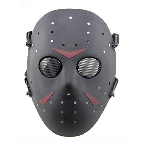 n Metall Mesh Maske Safeguard Full Face Schutz Maske für Halloween Masquerade Cosplay Kostüm Party, schwarz (Metall Kopf Halloween Kostüm)