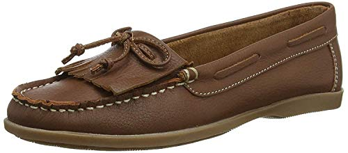 #Hush Puppies Coco Moccassin Tan Women's Leather Shoes -