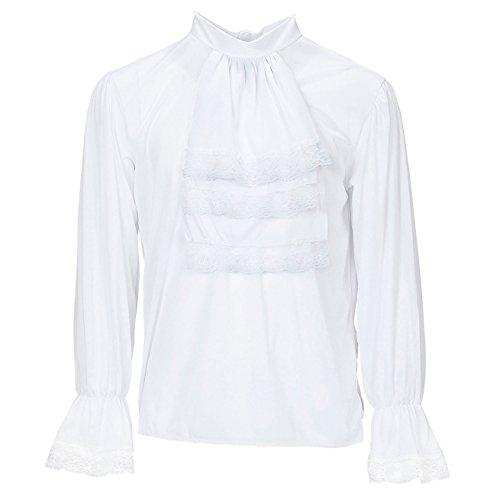 Widmann 4312D Bluse für Erwachsene, weiß, M (Rüschen Bluse Ärmel)