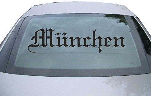 er Heckscheibe & Motorklappe DE6547 - schwarz - 600x150 mm - Stadt München - Auto Scheiben Fenster Heckklappe Tuning Racing JDM - Die Cut ()