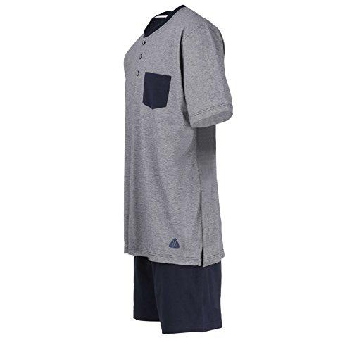 Ceceba Herren Zweiteiliger Schlafanzug Shorty, 3-knopfv. navy blaze