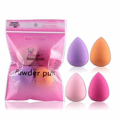 AIUIN Éponge de maquillage Makeup Sponge Poudre Puff Coton Pad Eau de Goutte Maquillage Eponge Beauty Maquillage Applicateur Crème et Poudre Application 4PCS Couleur Aléatoire