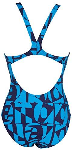 arena Damen W Gallery Badeanzug, Blau, Medium blau