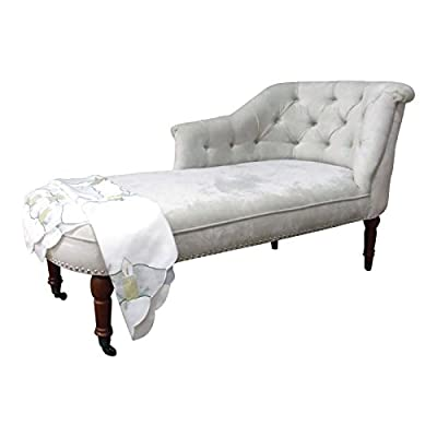 Kent Chaise Longue Soft Beige Chenille by chaise