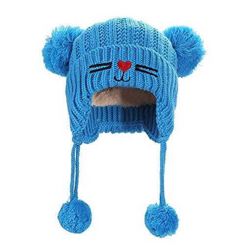 Easy Go Shopping Bonnet tricoté pour bébé Chaud pour garçon (Couleur : Bleu)