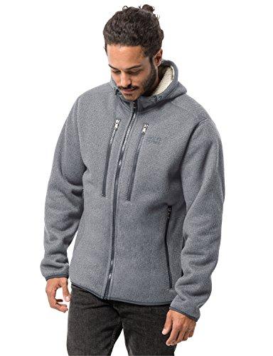 Jack Wolfskin Herren Robson Jacket Fleecejacke, grau (Slate Grey), XL