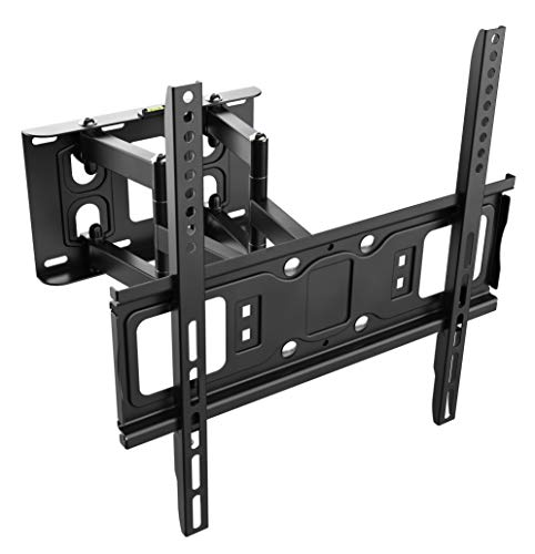 RICOO TV Wall Mount S5244 TV cabinet Arm Pendant Tilt and Swivel Supports 3D OLED LCD LED Plasma 4K VESA 400x400 Curve Universal for TV Black