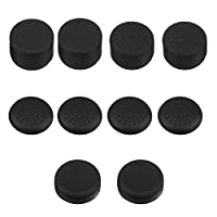 Mudder 10 in 1 Replacement Silicone Thumb Stick Grips Cap Cover for PS4 Controllers, Black
