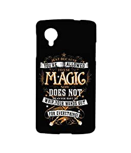 Licensed Harry Potter Premium Printed Back cover Case for LG Nexus 5 Mc Sidrazz