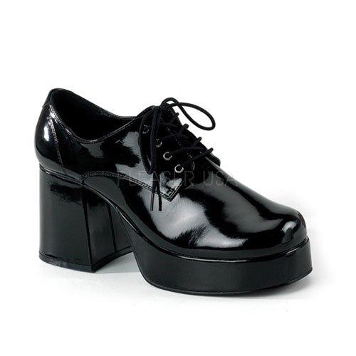 Funtasma 70s Disco-chaussures de plateau pour hommes: Jazz-02 laque noir