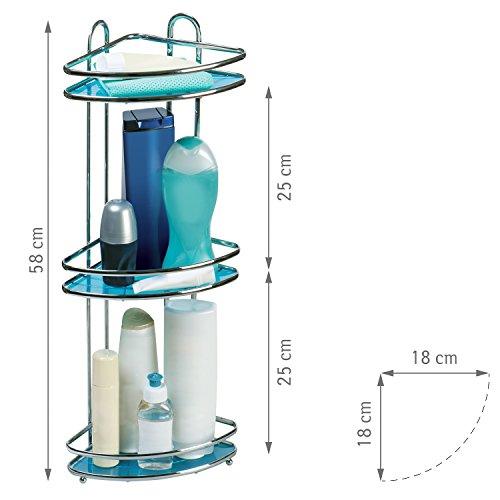 tatkraft-kaiser-compact-3-tier-shower-corner-rack-bathroom-shelf-antirust-chrome-plated-steel