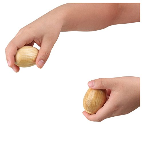 Gaoominy Musical Percussion Instruments Wooden Egg Shakers Rhythm Rattle for Baby Kids Pack of 2