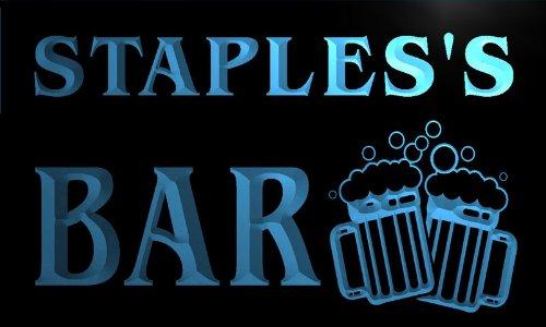 w002007-b-stapless-nom-accueil-bar-pub-beer-mugs-cheers-neon-sign-biere-enseigne-lumineuse