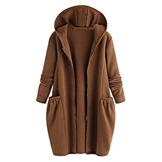 YIHANK Womens Ladies Winter Warm Outwear,Solid Hooded Pockets CoatsGet Up App Local at Space Burlington Biker Awlgrip Wiki Guys Bed Drop Locations Inc Oven Brown