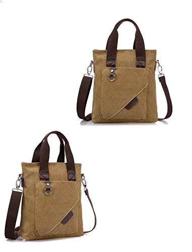 ADOO Vintage Top Qualität Unisex Umhänge Tasche Canvas Einkaufstasche Mesenger Bag Farbwahl Lila