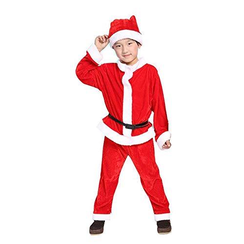 SPFAZJ Santa Anzug Kostüm WEIHNACHTSKOSTÜME für Jungen und Mädchen Weihnachten Kostüm Weihnachten Performance Kleidung Halloween-Kostüm S (Anzug Jungen Santa)