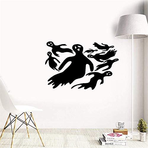 wandaufkleber 3d Wandtattoo Wohnzimmer 8 Stück Black Devil Ghost Halloween Dekoration für Kunst zu Hause dekorativ für Kinderzimmer