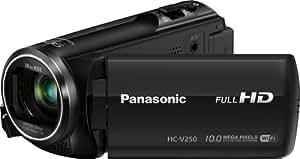 Panasonic HC-V250EG-K Camcorder (50-fach opt. Zoom, 6,7 cm (2,6 Zoll) LCD-Display, Full-HD, WiFi, SD/SDHC/SDXC-Kartenslot) schwarz
