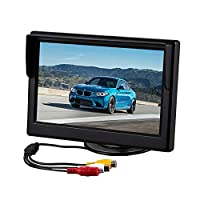 Car Color Rear View Monitor Screen, womdee 5 Inch TFT LCD Display Monitor, Car DVD Player Rear view Cameras Reverse Monitor with Mounting Stand Fits Any Vehicle, Car or Truck