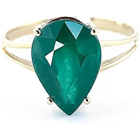 QP Jewellers smeraldo naturale, oro 9 carati, a goccia, smeraldi 4270Y