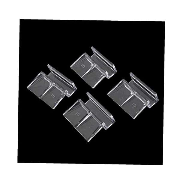 AYRSJCL Clips 4X Peces de Acuario Tanque de plástico Cubierta del Cristal de los titulares de Apoyo Fuerte 10mm 2