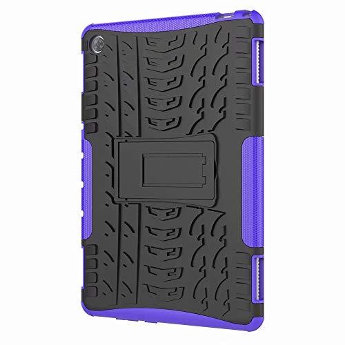 Dedux Hülle Für Samsung Galaxy Tab S5e 10.5 T720/T725 [Dual Layer Armour Series] Anti-Scratch PC Rückwand Schale + Stoßfeste TPU Innenschutzabdeckung + Faltbarer Halterungen.lila T720 Serie