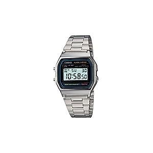 CASIO A158 – Armbanduhr mit Edelstahlarmband