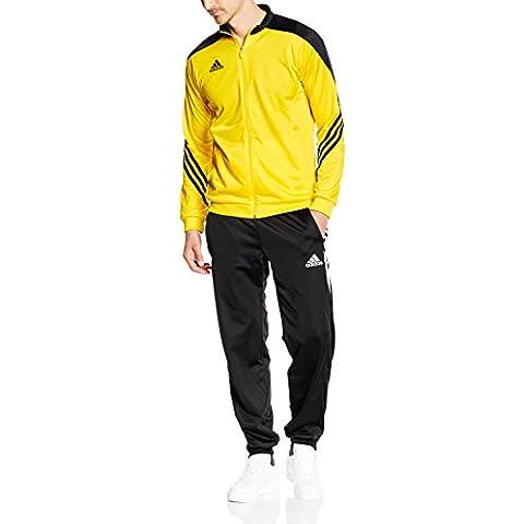 adidas  Sereno 14 - Chándal para hombre, multicolor (amarillo / negro / blanco), talla XL