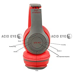 Acid Eye P47 Bluetooth 4.1 Headphone Wireless Headband Earphone Hands Free Music Headset With MF/TF for Apple Samsung HTC LG Mobile Phone. P47 Bluetooth Headphone Hands Free Music Audifonos wireless headset noise canceling earphone for mobilephone and ipod. Headphones For Any Smartphone Hands Free Music Headsets Support FM/TF Card Retail Package Free Shipping.