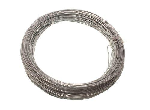 24 x 500g de poids galvanisé clôture de jardin fil 1.25 mm 50 mètres