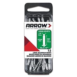 Arrow Fastener RLA1/8 Long Aluminum 1/8-Inch Rivets, 15-Count