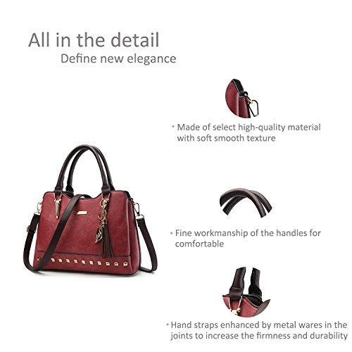 e72e09954b609 Ruiren Multifunktions Soft Bag Süße Damen Messenger Bags Umhängetasche  Burgund ...