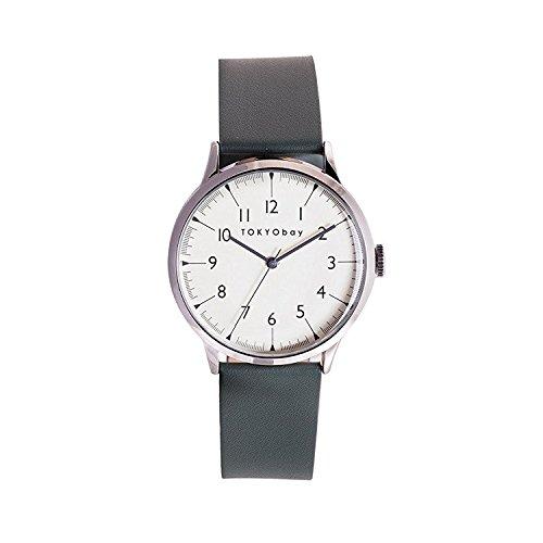 tokyobay-t339-gr-hombres-de-acero-inoxidable-banda-esfera-blanca-reloj-inteligente-de-piel-verde