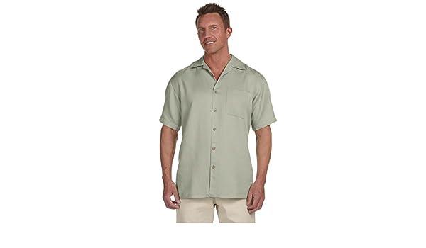 Harriton Camp Shirt Men/'s Short Sleeve Bahama Cord M570 Black XL More Size//Colrs