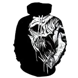 Felpa Uomo Stampa Digitale Maglione 3D Uomo Skeleton King Stampa Tendenza Maglione Felpe con Cappuccio delle Donne