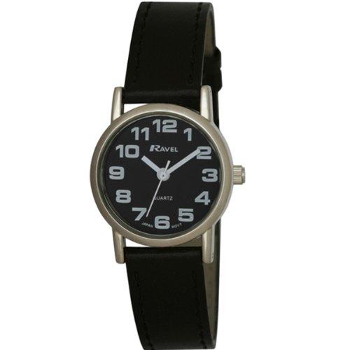 TimeLine Press, LLC R0105.07.2 - Reloj de cuarzo para mujer, con correa de plástico, color negro
