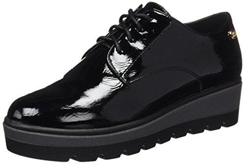 XTI 047290, Zapatos de Cordones Oxford para Mujer, Negro (Black), 38 EU