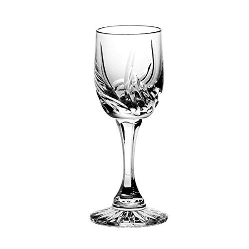 Crystaljulia 5797, Set di Bicchieri da liquore in cristallo, 6 pz., 45 ml