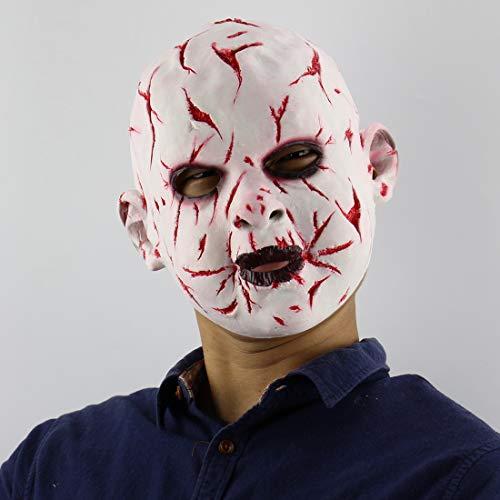 Halloween Bloody Rotten Gesicht Puppe Maske Latex Horrormaske Wig Filmrequisiten (Dem Aus Kürbis-gesicht Halloween Film)