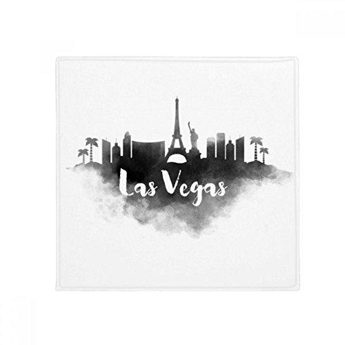 DIYthinker Las Vegas Amerika Zeichen Ink Stadt Malerei Anti-Rutsch-Boden Haustier-Matten-Platz Home Küchentür 80 cm Geschenk 80 X 80Cm Mehrfarbig