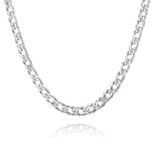 STERLL Herren Hals-Silberkette Silber 925 55 cm Ohne Anhänger Geschenkverpackung Geschenk für Männer Weihnachten