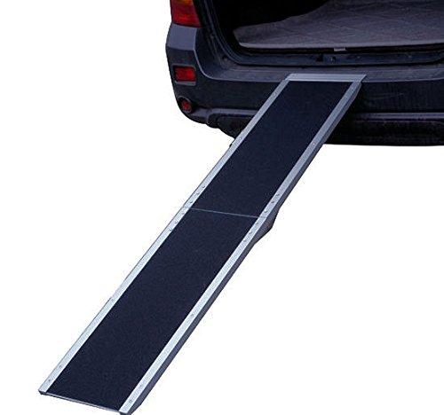 MyPets® Hunderampe COMFORT WALK ALUMINIUM klappbare Autorampe Rampe Hundetreppe Belastbar bis 180 kg - klappbar & daher platzsparend