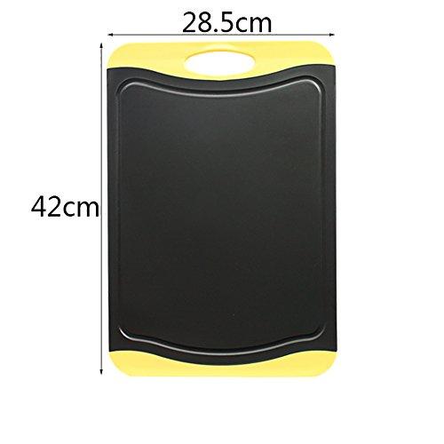 Planches à découper Panneau de découpe en plastique Rectangulaire multifonctionnel Rectangle noir et vert (taille : 28 * 42cm)