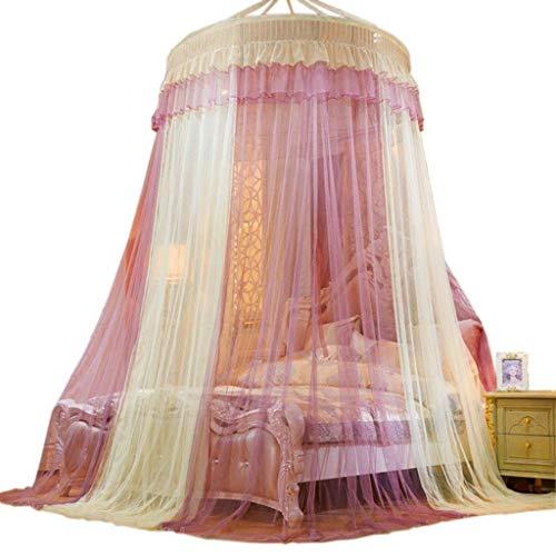 LIN HE SHOP Europäischen Stil Moskitonetz Baldachin Bett Vorhänge Für Mädchen Bett - Colorblocking Dome Prinzessin Zelt Bett Moskitonetz Für Kinder Spielen, Haus Dekoration (Farbe : Gelb) -