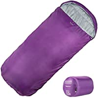 XL Sleeping Bag by Highlander – Extra Large Pod Design perfect for Camping, Sleepovers and Festivals – Lightweight Single Bags suitable for Adults and Juniors -  The Sleephaven, Grape Juice