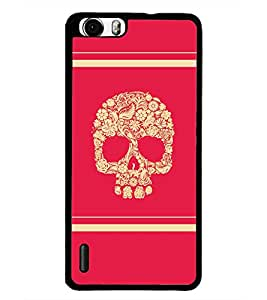PrintDhaba Skull D-5945 Back Case Cover for HUAWEI HONOR 6 PLUS (Multi-Coloured)