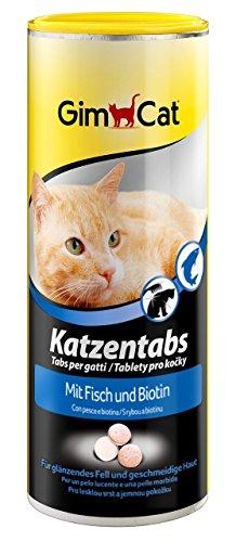 GimCat Katzentabs | köstlicher Snack kombiniert mit funktionalen Inhaltsstoffen | ohne Geschmacksverstärker | Fisch und Biotin 1 x 210 g
