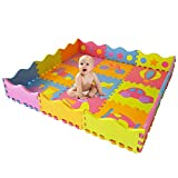 Stomping Ground Toys - 25 Alfombras Puzzle EVA Coloridas Alfombras de Foam Encajables para Actividades Infantiles en el Piso