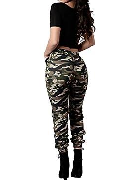 Tomwell Donna Pantaloni Mimetici A Vita Alta Militare Casuale Sciolto Pantaloni Larghi Elastico Traspirante Trousers...